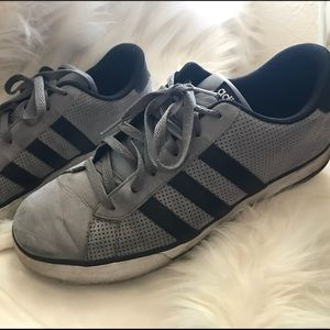 Men's Gray & Black Adidas sneakers size 11